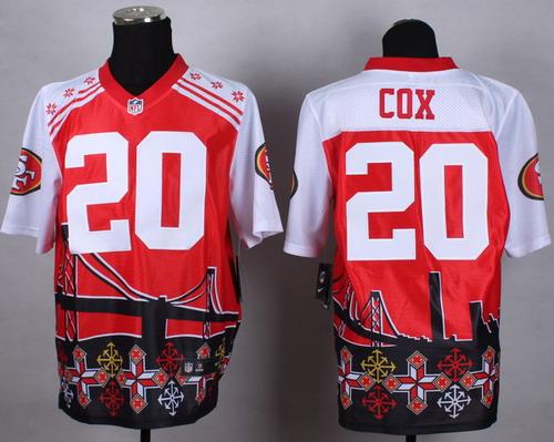 Nike San Francisco 49ers #20 Perrish Cox 2015 Noble Fashion Elite Jersey