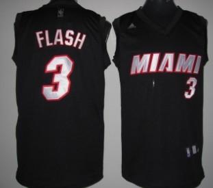 Miami Heat #3 Flash Black Fashion Jersey