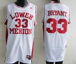 Lower Merion High School #33 Kobe Bryant White Jersey