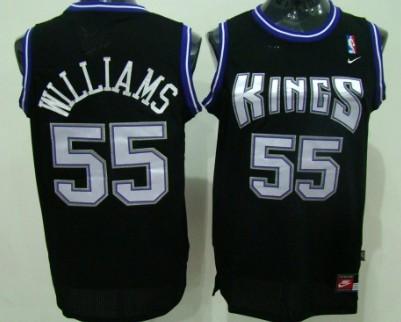 Sacramento Kings #55 Jason Williams Black Swingman Jersey