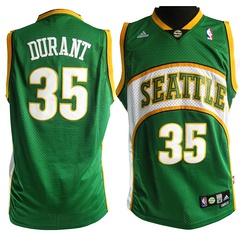 Seattle Supersonics #35 Kevin Durant 2007-08 Green Swingman Jersey