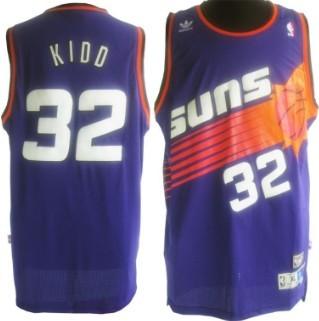 Phoenix Suns #32 Jason Kidd Purple Swingman Throwback Jersey