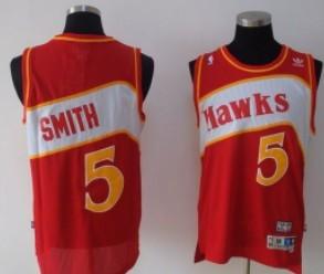 Atlanta Hawks #5 Josh Smith Red Swingman Throwback Jersey