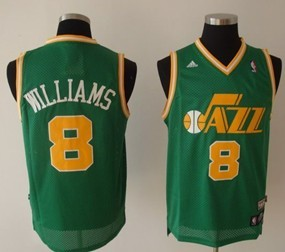 Utah Jazz #8 Deron Williams Green Swingman Throwback Jersey