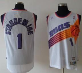 Phoenix Suns #1 Amare Stoudemire White Swingman Throwback Jersey