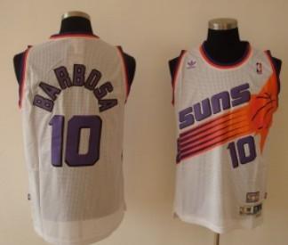 Phoenix Suns #10 Leandro Barbosa White Swingman Throwback Jersey