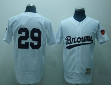 St. Louis Browns #29 Satchel Paige White Throwback Jersey