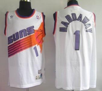Phoenix Suns #1 Penny Hardaway White Swingman Throwback Jersey