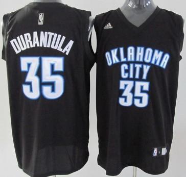 Oklahoma City Thunder #35 Durantula Black Fashion Jersey