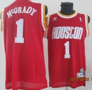 Houston Rockets #1 Tracy McGrady Red Swingman Throwback Jersey