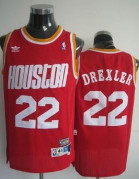 Houston Rockets #22 Clyde Drexler Red Swingman Throwback Jersey