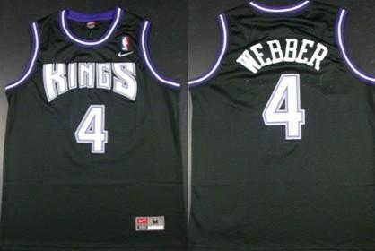 Sacramento Kings #4 Chris Webber Black Swingman Jersey