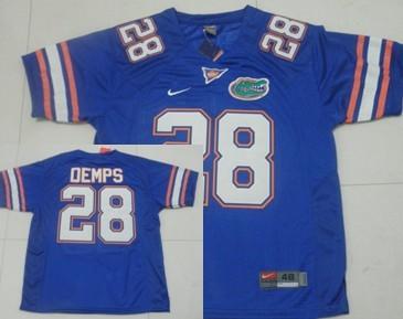 Florida Gators #28 Jeff Demps Blue Jersey