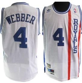 Sacramento Kings #4 Chris Webber Royals Hardwood Classic White Swingman Throwback Jersey