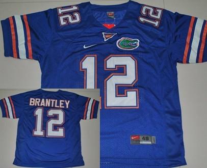 Florida Gators #12 John Brantley Blue Jersey
