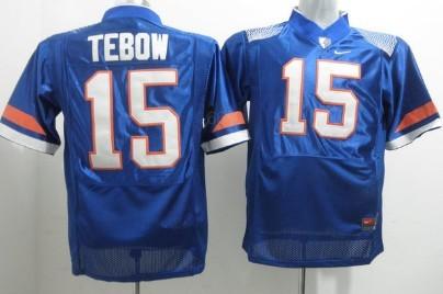 Florida Gators #15 Tim Tebow Blue Fighting Jersey