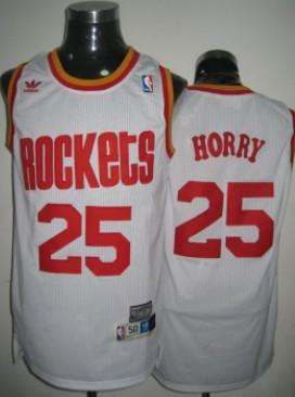 Houston Rockets #25 Robert Horry White Swingman Throwback Jersey