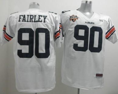 Auburn Tigers #90 Nick Fairley White Jersey