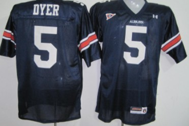 Auburn Tigers #5 Dyer Navy Blue Jersey