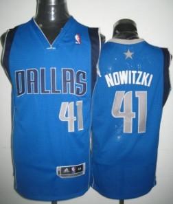Dallas Mavericks #41 Dirk Nowitzki Light Blue Jersey