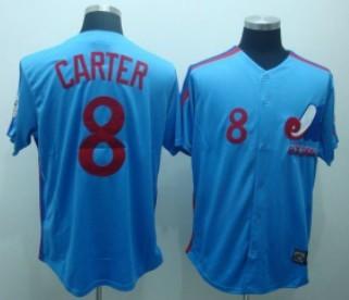 Montreal Expos #8 Gray Carter 1982 Blue Throwback Jersey