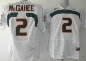 Miami Hurricanes #2 McGahee White Jersey