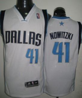 Dallas Mavericks #41 Dirk Nowitzki White Swingman Jersey