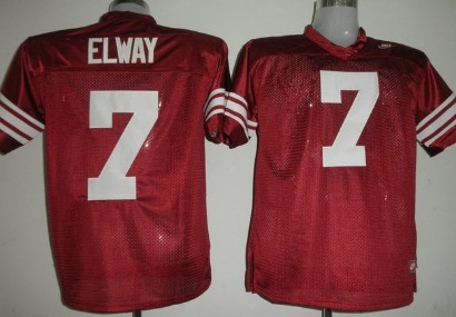 Standford Cardinals #7 Elways Red Jersey