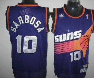 Phoenix Suns #10 Leandro Barbosa Purple Swingman Throwback Jersey
