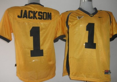 California Golden Bears #1 Jackson Yellow Jersey