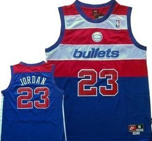 Washington Bullets #23 Michael Jordan Blue Swingman Throwback Jersey