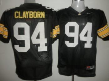 Iowa Hawkeyes #94 Adrian Clayborn Black Jersey
