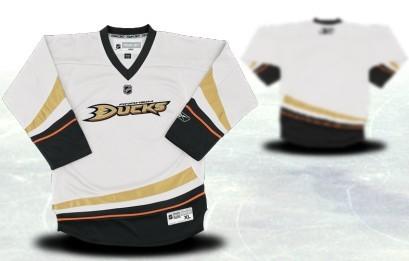 Anaheim Ducks Youths Customized White Jersey