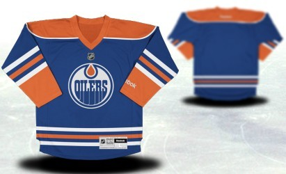 Edmonton Oilers Youths Customized Blue Jersey