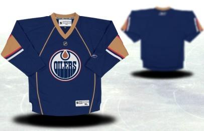 Edmonton Oilers Youths Customized Blue Thrid Jersey