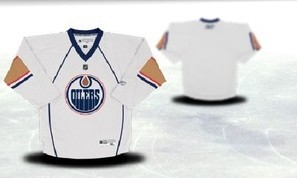 Edmonton Oilers Youths Customized White Jersey