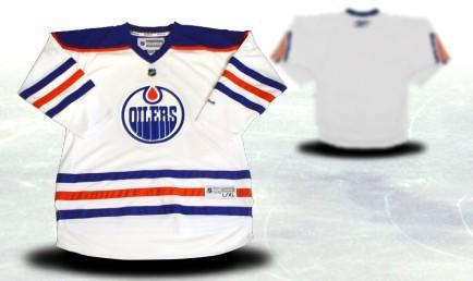 Edmonton Oilers Youths Customized White Thrid Jersey