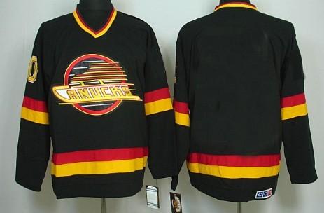 Vancouver Canucks Mens Customized Black CCM Jersey