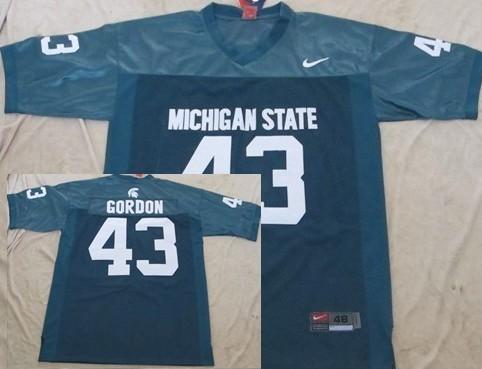 Michigan State Spartans #43 Eric Gordon Green Jersey