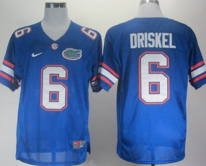 Florida Gators #6 Jeff Driskel Blue Jersey