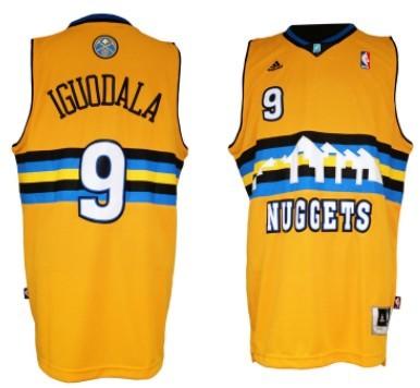 Denver Nuggets #9 Andre Iguodala Revolution 30 Swingman Yellow Jersey