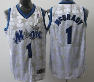 Orlando Magic #1 Tracy McGrady White All-Star Jersey