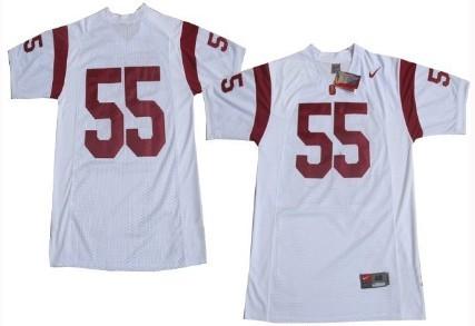 USC Trojans #55 Junior Seau White Jersey