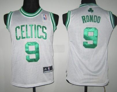 Boston Celtics #9 Rajon Rondo White Kids Jersey