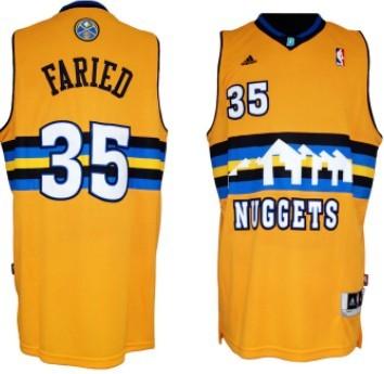 Denver Nuggets #35 Kenneth Faried Revolution 30 Swingman Yellow Jersey