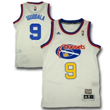 Denver Nuggets #9 Andre Iguodala ABA Hardwood Classic Swingman White Jersey
