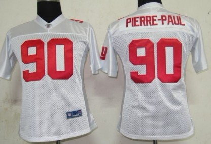 New York Giants #90 Jason Pierre-Paul White Womens Jersey