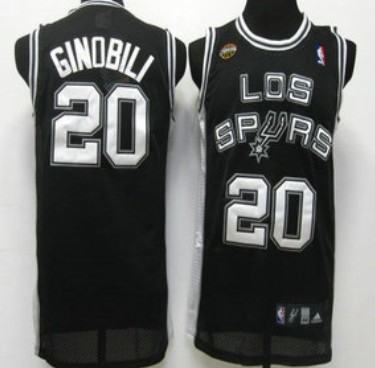 San Antonio Spurs #20 Manu Ginobili Latin Nights Black Swingman Jersey