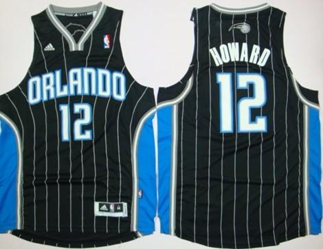 Orlando Magic #12 Dwight Howard Revolution 30 Swingman Black Jersey