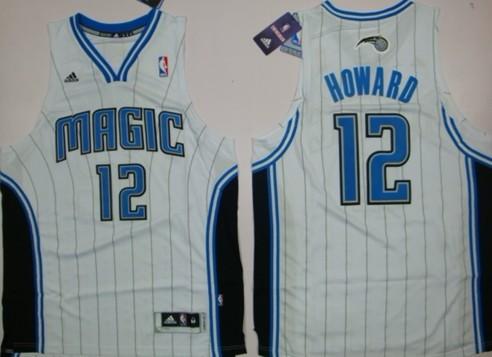 Orlando Magic #12 Dwight Howard Revolution 30 Swingman White Jersey